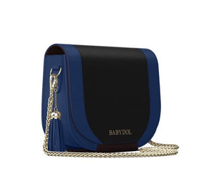MIDNITE Leather Bag w Chain & Tassel