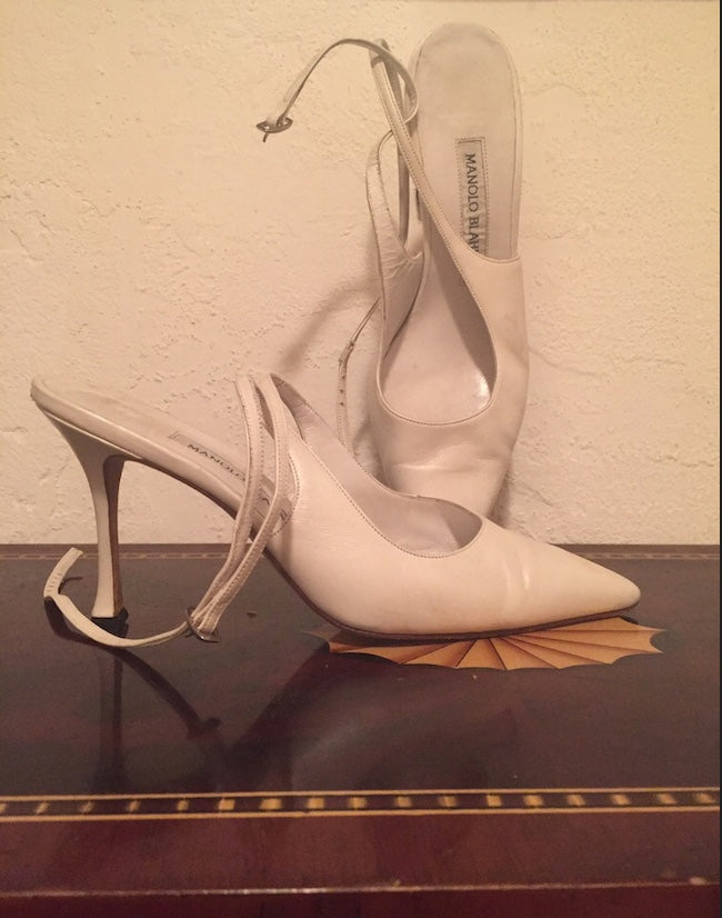 MANOLO BLAHNIK BABYDOL Pump worn here at her High-Profile Hollywood Madam Superior COURT ARRAIGNMENT