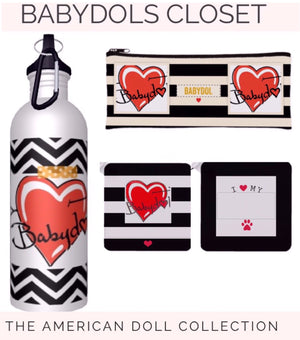 BABYDOL 3pc Gift SET/Water Bottle, Keychain, Cosmetic Case