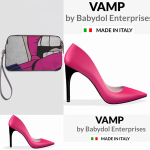VAMP Leather Fuschia Pink High Heel Stiletto
