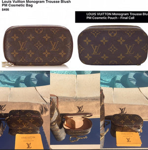 Louis Vuitton Auth Trousse Vintage Monogram Pouch