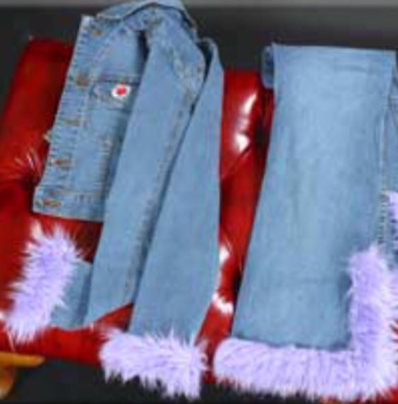 BABYDOL Faux Fur Denim Jeans