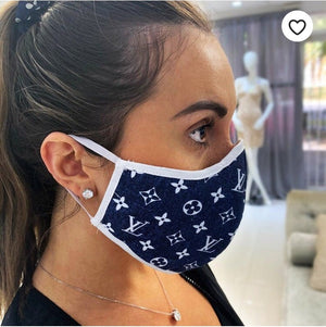 LOUIS VUITTON Denim Blue Inspired Protective Mask