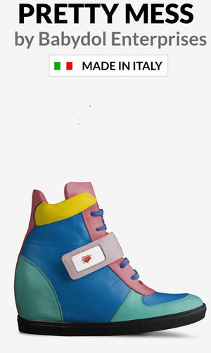 SUMMER GIRL Multi Colored Suede Hi Top Sneaker