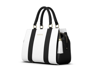 BLACKOUT Weekender Bag Jet Black And ChalkWhite Leather