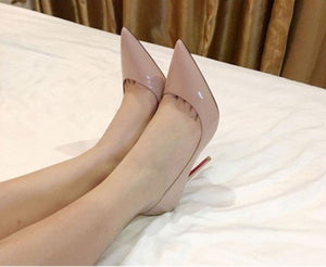 IM BLUSHING Blush Nude Patent Leather High-Heel Stiletto Pump