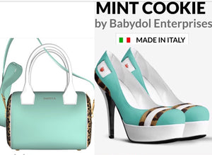 MINT COOKIE Mint Green Leather w Leopard Pump