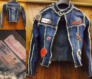 BABYDOL Racer Jacket Denim