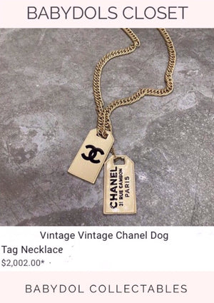 CHANEL 2 for 1 Dog Tags Auth