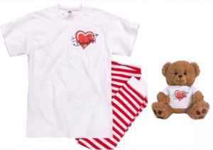 BABYDOL 2pc Pajama Set w FREE Teddy!