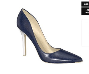 IN THE NAVY Leather High-Heeled Stiletto Pump