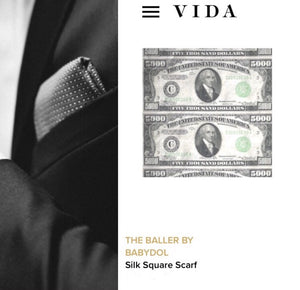 The BALLER Silk Pocket Square