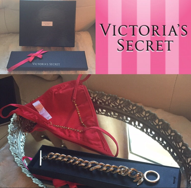RARE! Victoria's Secret Special Edition RED Jeweled Thong Collectors Item.