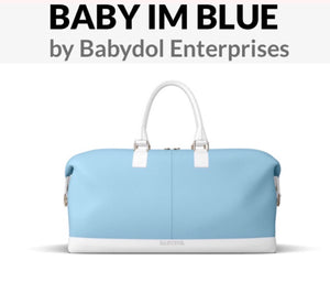 BABY IM BLUE Leather Weekender Satchel (Lg)