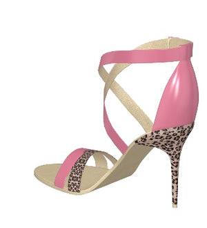 PINK FLAMINGO Pink Patent Leather Leopard Sandal
