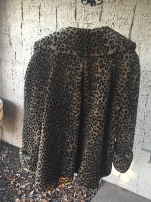 Faux LEOPARD COAT from the Chris Hunter Photo Shoot!