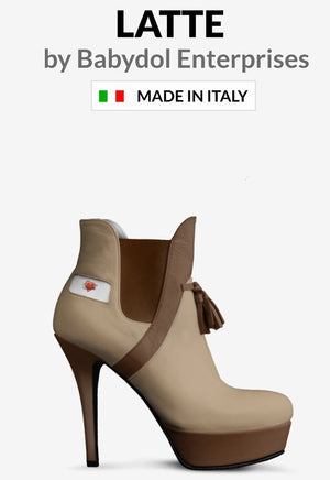 LATTE Colored Leather Ankle Boot