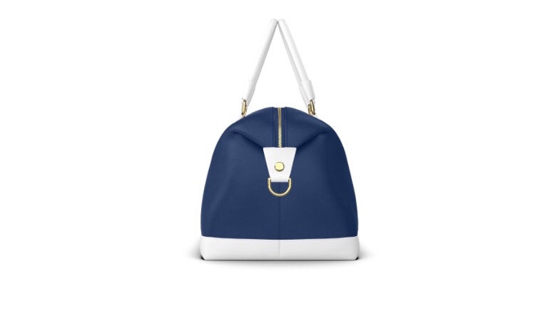 IN THE NAVY Leather Weekender Bag