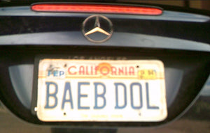 BAEBDOL Original License Plate!