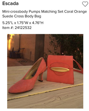 ESCADA Coral Suede Pumps