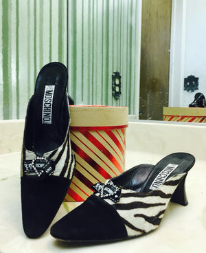 "MOSCHINO Auth ""The Diva"" Mules"