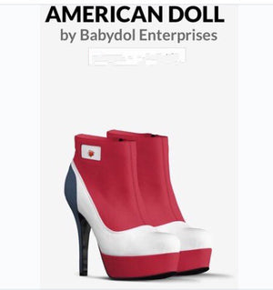 AMERICAN DOLL Platform Leather Ankle Boot