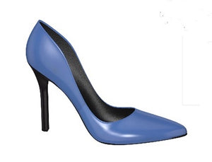 VIXEN Blue Patent Leather High Heel Stiletto