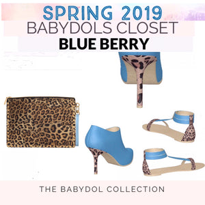 BLUE BERRY Leather Flat Leopard Sandal
