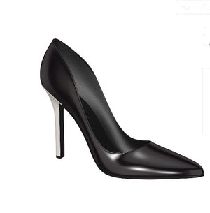 BLACKOUT Black Patent Leather High Heel Stiletto