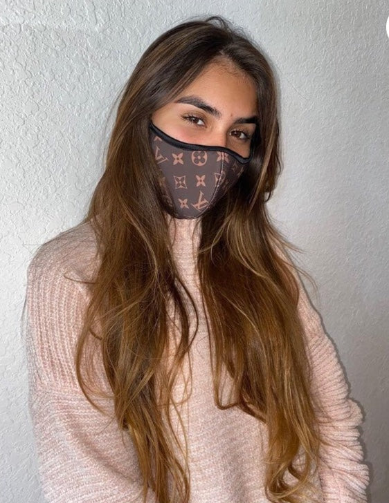 LOUIS VUITTON Brown/Tan Inspired Protective Masks
