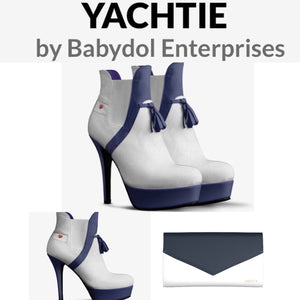 YACHTIE Navy and White Suede Ankle Boot