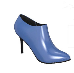 VIXEN Blue Leather Ankle Boot