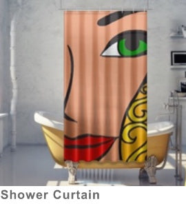 GODDESS Bathroom Shower Curtain