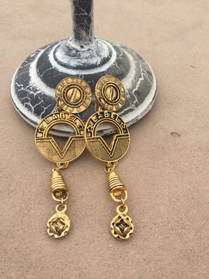 Collectors Item Vintage Jean Paul Gaultier Steampunk Collection Drop Earrings