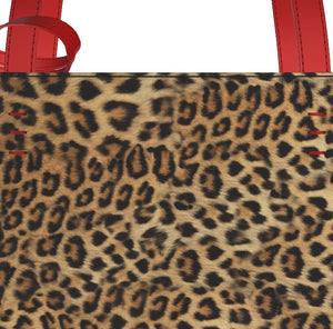 BITCH Leopard Hair Shopper's Tote w FREE Matching Leopard Cosmetic Case