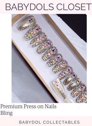 BABYDOL BLING GLAM Press-On Nails (10)