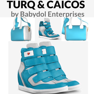 TURQ and CAICOS Leather Hi-Top, Platform Sneaker