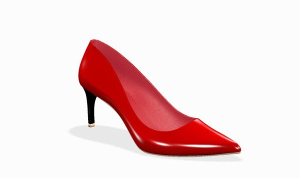"FIERCE Red Patent Leather w 2"" Lower Heel"