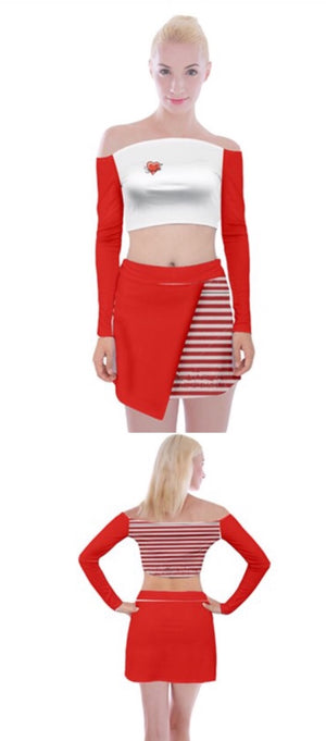 BABYDOL  Off Shoulder Top w Mini Skirt Set