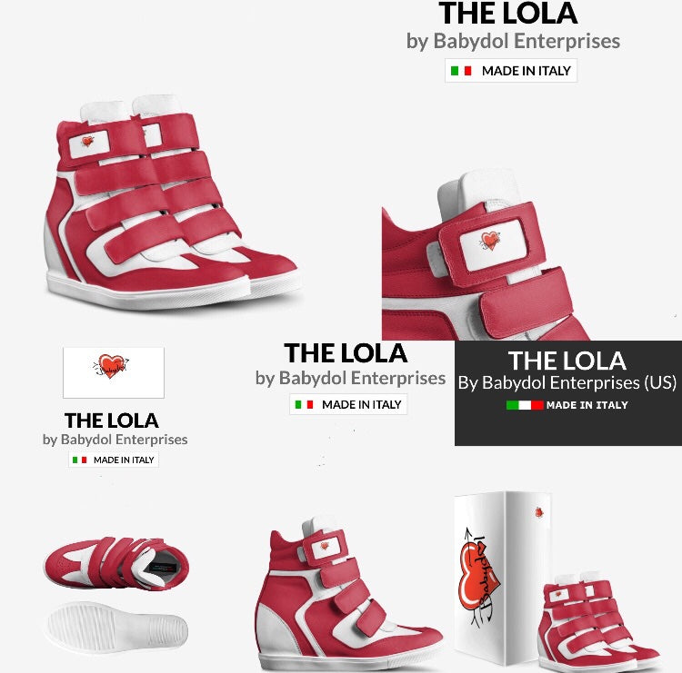 The Lola Hi-Top Platform Leather Sneakers