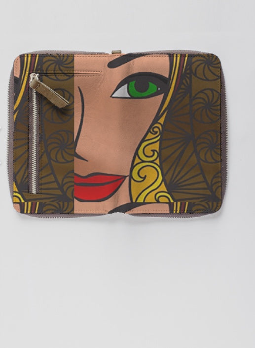 GODDESS Leather Zip-Around Wallet