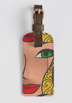 GODDESS  Leather Luggage Tag