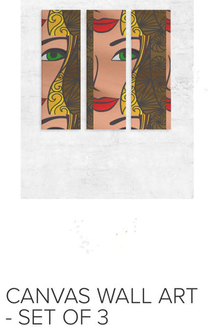 GODDESS Canvas Wall Art 3 panels