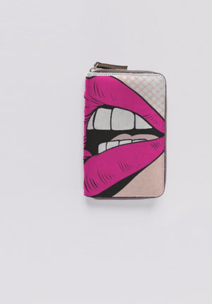 VAMP Leather Zip Around Wallet
