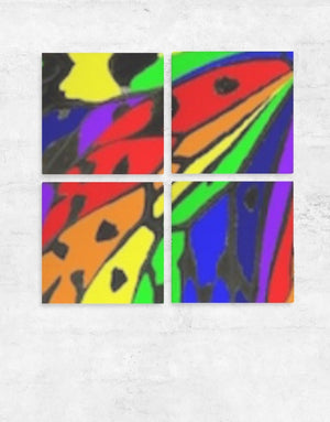 BUTTERFLY Wall Art set of four panels