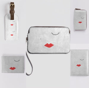 LIPSTICK GIRL Leather Clutch