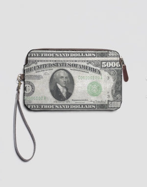 The BALLER Leather Clutch with Wrist Strap