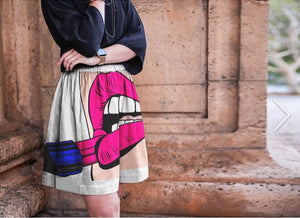 GODDESS Cupro Silk Skirt