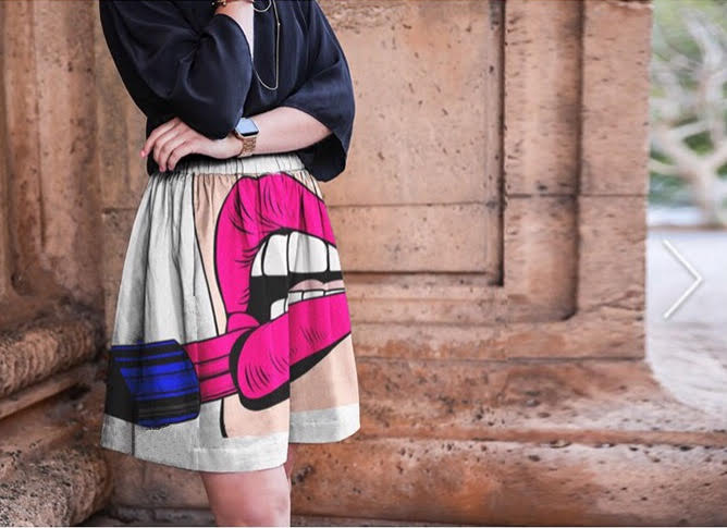 VAMP Silk Cupro Skirt