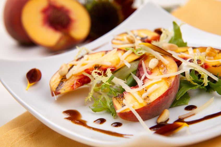 Grilled Peaches Salad over Arugula and Parmigiano Cheese
